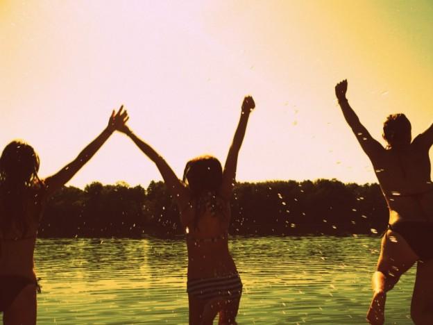 Sommer, Freunde, Mädchen