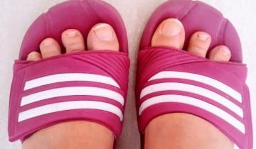 Fuß, Füsse, baden, Krankheit, schwimmen, Badelatschen